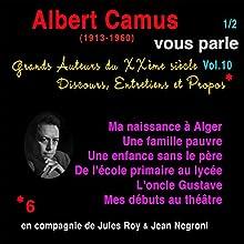 Albert Camus vous parle 1 (Grands Auteurs du XXème siècle : Discours, Entretiens et Propos 10) Performance Auteur(s) : Albert Camus Narrateur(s) : Albert Camus, Jules Roy, Jean Negroni