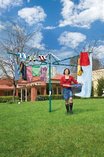 Hills Rotary 7 Washing Line - Forest Glade Green - FREE DELIVERY