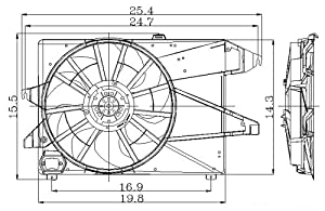 Amazon  9500    FORD       CONTOUR       Radiator      AC Condenser