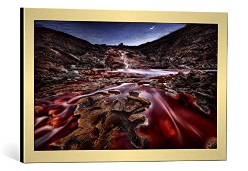 quadro-con-cornice-jesus-m-garcia-last-lights-in-rio-tinto-iii-red-river-stampa-artistica-decorativa