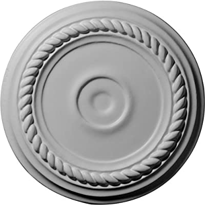 Ekena Millwork 7 7/8-Inch OD x 1 1/8-Inch ID x 3/4-Inch Small Alexandria Ceiling Medallion by Ekena Millwork