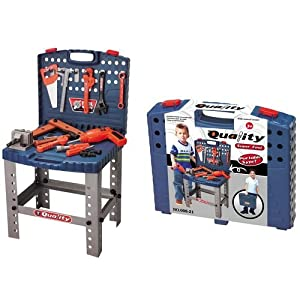 Toy Tool Set Workbench Kids Workshop Toolbench Toys Games
