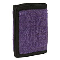Earth Divas NFP-14-419-2 Velcro Closure 3 Card Storage Tri-Fold Mens Wallet, Purple