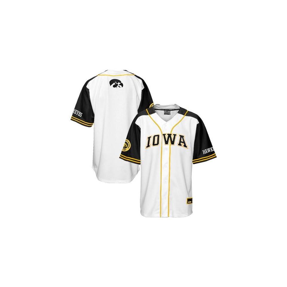 low priced 4a33e debfa Iowa Hawkeyes White Slugger Baseball Jersey on PopScreen