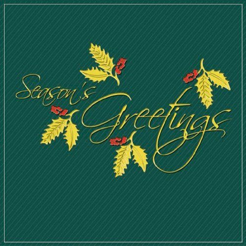 """25 Folded Premium Quality 5x7 and 6x6 """"Season's Greetings"""" Greeting Cards at WHOLESALE Price - Unique and Individually Created Holiday/Christmas/Happy New Year Greeting Cards In 5 Different Designs (BLANK INTERIOR)"""