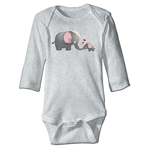 [Mom Kid Elephant Heart Cute Boy And Girl Baby Romper Jumpsuit 18 Months Ash] (Lucas Mother 3 Costume)