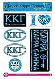 Kappa Kappa Gamma Sticker Sheet - Lifestyle Theme. 8.5