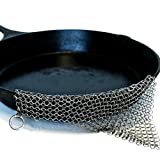 The Ringer Cast Iron Cleaner XL 8×6 Inch Stainless Steel Chainmail thumbnail