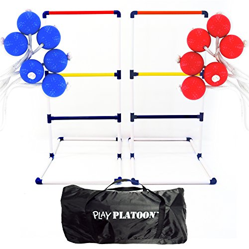 Play Platoon Ladderball Game Set with 6 Ladder Golf Ball Bolas (Complete Ladder Toss Game Set) (Giant Corn Dog compare prices)
