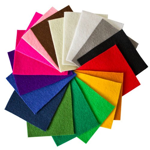Sample Bag of 100% Wool Craft Felt 1.2mm thick