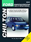 Ford Windstar/Freestar & Mercury Monerey, 2004-2007 (Chilton's Total Car Care Repair Manuals)