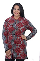Romano Multi-Coloured Winter Wool Coat Sweater for Women