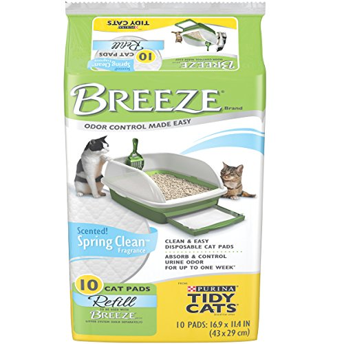 Tidy Cats Cat Litter, Breeze, Litter Pad Refill, Spring Clean Fragrance, 10 Count Pouch, Pack of 6 (Breeze Litter Refill compare prices)