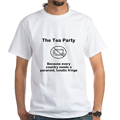 Cafepress Anti-Tea Party White T-Shirt - L White