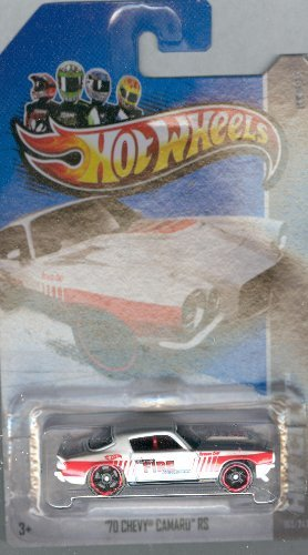Hot Wheels 2012-163 HW City '70 Chevy Camaro RS WHITE (Kokomo Fire Dept) 1:64 Scale