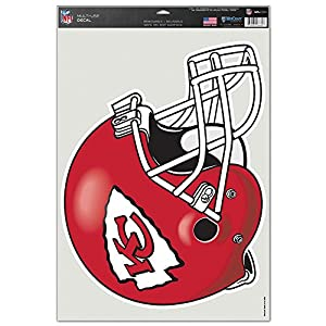 Kansas City Chiefs Official NFL 11 inch x 17 inch Car Window Cling Decal
