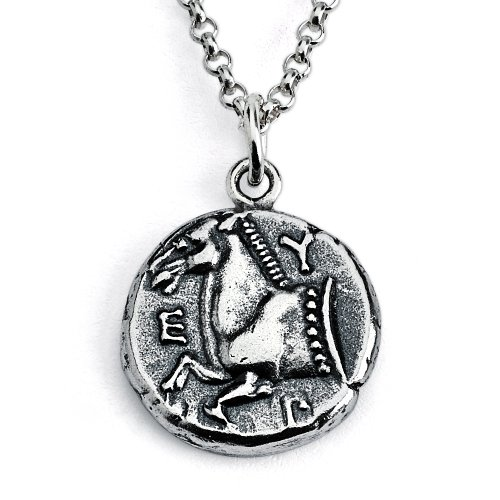925-sterling-silver-replica-greek-thrace-of-maroneia-coin-pendant-necklace-18-inches