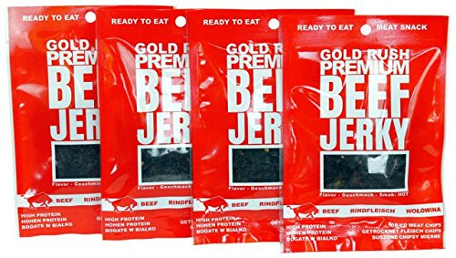 Gold Rush Beef Jerky Hot 4Pack