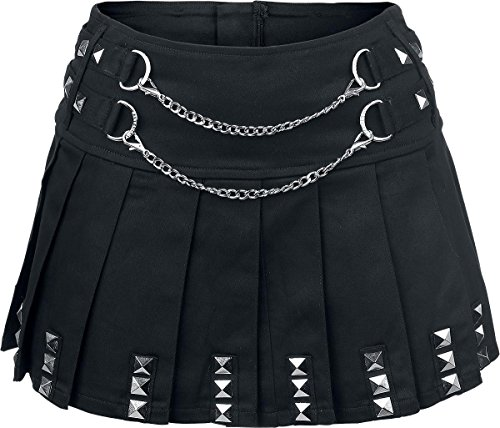 Punk Goth Emo Skirt in Black