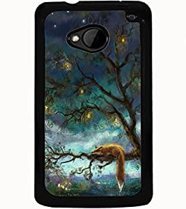ColourCraft Beautiful Tree Design Back Case Cover for HTC ONE M7