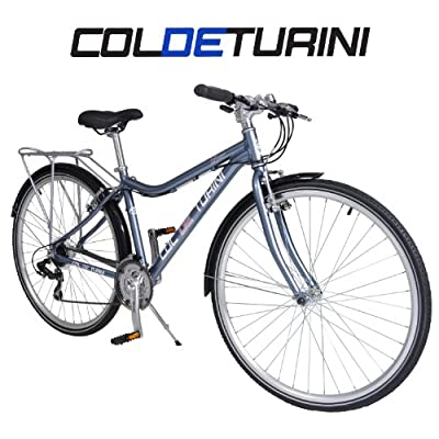 "Col de Turini Loire 700c Commuter Bike - Grey and Pink - Ladies - 17"" Frame"