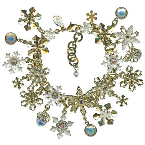 Kirks Folly Snowflake Flurries Charm Bracelet Toys