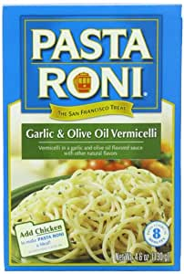 Pasta Roni Garlic & Olive Oil Vermicelli Mix, 4.6-Ounce Boxes (Pack of 12)
