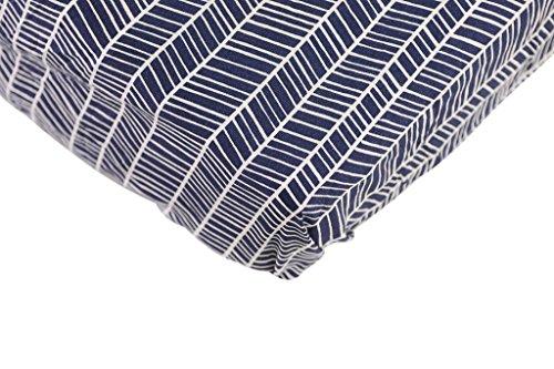 Danha Premium Fitted Cotton Crib Sheet With Herringbone Print - Standard Crib Mattress Size - Toddler, Kids Bedding - Navy Herringbone Nursery Décor Theme - Ideal Baby Shower Gift For Boys Or Girls (Crib Sheet Navy compare prices)