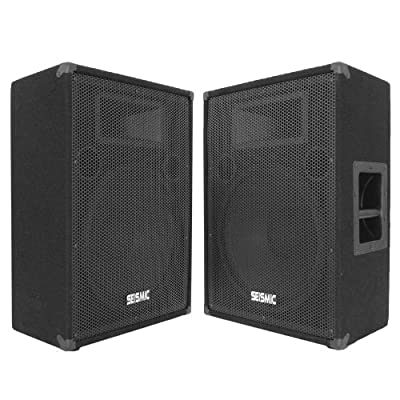 "Seismic Audio - FL-15MP (Pair) - Pro Audio PA/DJ 15"" Monitors - 100% Birch Plywood - 800 Watts by Seismic Audio"