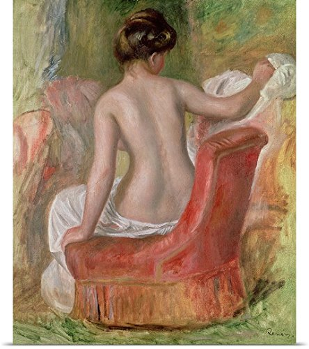 Pierre Auguste (1841-1919) Renoir Poster Print entitled Nude in an Armchair, 1900 (oil on canvas)