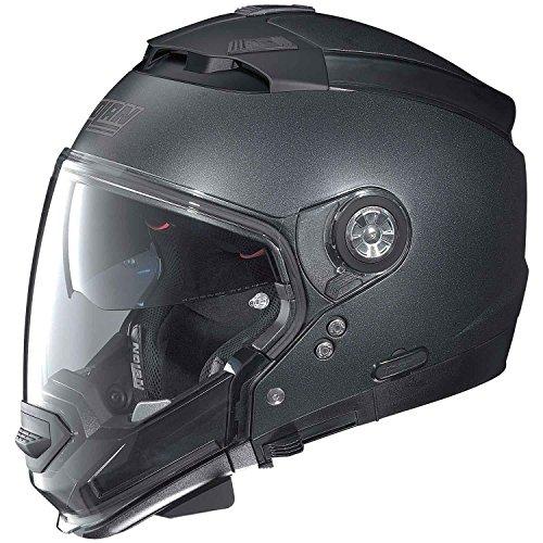 Nolan-N44-Evo-Casco-de-moto-modular-de-lexan-con-sistema-de-comunicacin-N-Com-color-negro-mate