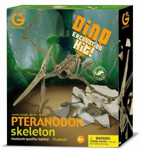 Geoworld Dino Excavation Kit 23210698 Pteranodon - Kit de excavación de esqueletos de dinosaurios (48 cm) [importado de Alemania]