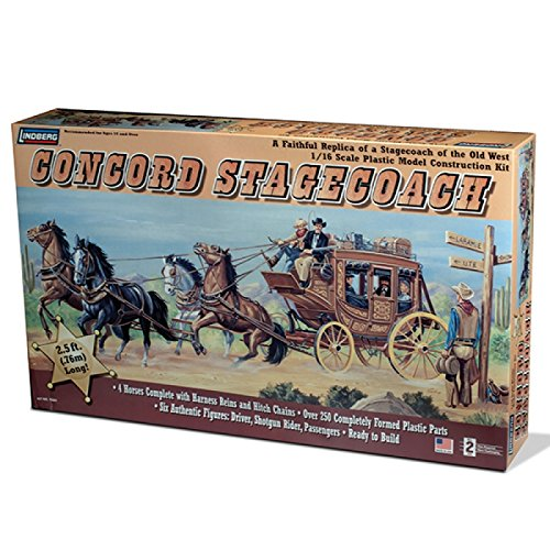 Lindberg 1:16 scale Concord Stage Coach (Stagecoach Model compare prices)