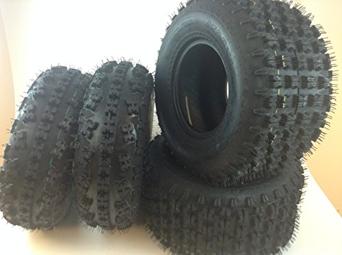 Full Set Of MassFx Front (2x) 21X7-10 and rear Tires (2x) 20X10-9 ATV Tires Pair (Atv Tire Set compare prices)