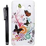 Hunye Hard Plastic Butterfly ( number 2 ) Back Case for Huawei Ascend Y300 Cover with Stylus Pen