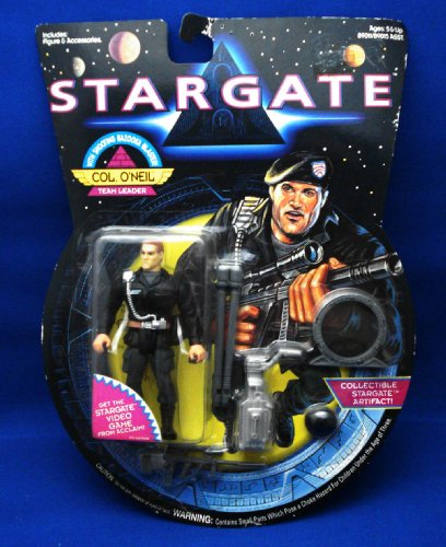Picture of Hasbro Kurt Russell As Col. O'Neil, Team Leader with Shooting Bazooka Blaster Action Figure - Stargate, the Movie (B000OJLAPG) (Hasbro Action Figures)