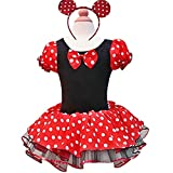 FEESHOW Baby Girls' Minnie Mouse Party Fancy Dress up Costume with Headband