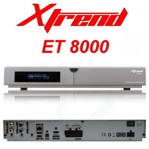 Xtrend ET 8000 HD 1x DVB-S2 1x DVB-C/T2 Tuner Linux Full HD HbbTV Receiver PVR Ready