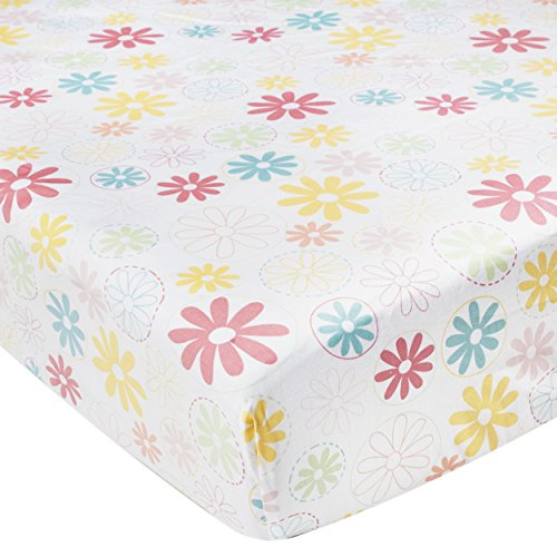 Kidsline Fanciful Floral Fitted Sheet, Flowers - 1