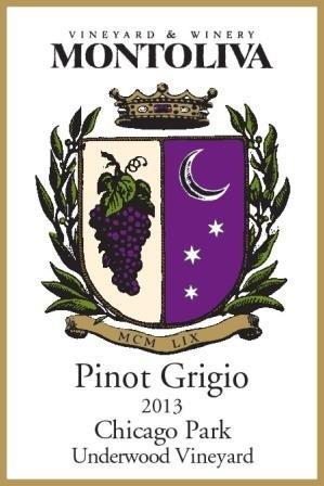 2013 Montoliva Vineyard, Underwood Vineyard, Chicago Park, Sierra Foothills, Pinot Grigio 750 Ml