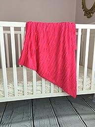 Small Ruffle Baby Blanket for Baby Girl 30\
