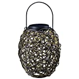 Kenroy Home 60533RAT Tangle Solar Lantern, Black