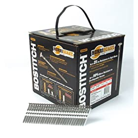 Bostitch RH-S8DR131-HQ Hurriquake 21-Degree 2-1/2-by-0.131-Inch Plastic Collated Stick Framing Nails, 4000 per Box