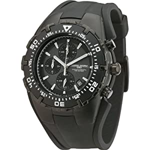 Jorg Gray JG5300-12 Stealth Black Chronograph Watch with Rubber Strap