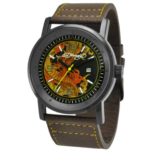 Ed Hardy Men's KM-DR Kombat Yellow Watch