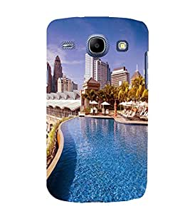 printtech Building Waterpool Back Case Cover for SAMSUNG Galaxy J7 - 6 (New 2016 Edition)