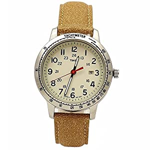 Timex Men's T2N8569J Weekender Brown Leather Analog Watch