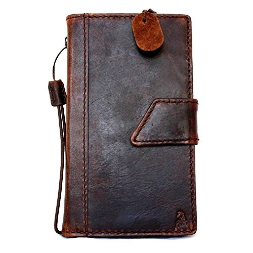 Genuine Italian Oil Vintage Leather Case for Samsung Galaxy Note 4 Book Wallet Business Handmade Id Free Shipping (Italian Leather Cell Phone Case compare prices)