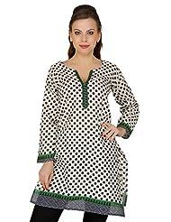 Cenizas Casual 3/4 Sleeve Polka Print Women's Kurti - B00N42BG4K