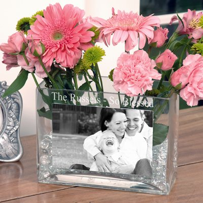Raebella New York'S Personalized Family Glass Photo Vase Engraved Gift Favor back-650752
